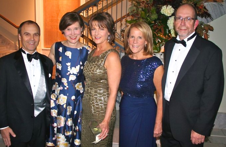 Scott Turow, Ann Patchett, Tari Hughes, Dianne and Kent Oliver at The Nashville Public Library Literary Award Gala on November 8, 2014. Turow was honored for his contributions to the world of books and reading.  (photo by Richard Rogers for The Tennessean)