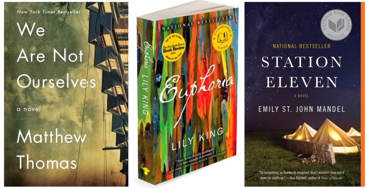 three paperbacks
