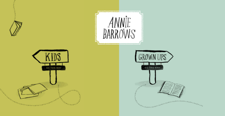 Author Annie Barrow's website landing page