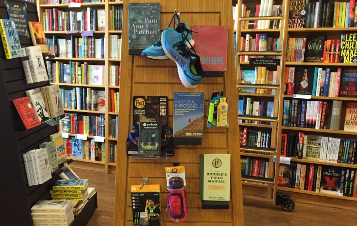 While you're visiting the Staff Picks shelf up at the front of the store, be sure to check out other themed displays, like this one -- all about running! (Thanks to our neighbor, Fleet Feet Green Hills, for the props.)